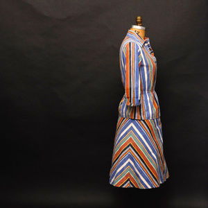 1960s Light Weight Striped 2 Piece Outfit